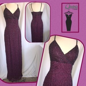 Dresses & Skirts - Maroon beaded prom dress